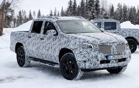 mercedes jeep truck mercedes pickup truck sheds some camo for spy photographers