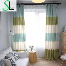 striped bedroom curtains slow soul red green blue curtains living room simple fresh korean