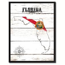Floridas State Flag Florida State Home Decor Office Wall Art Decoration Bedroom
