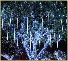 led icicle lights lights blue