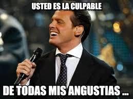 Memes Luis Miguel - usted es la culpable luis miguel meme on memegen