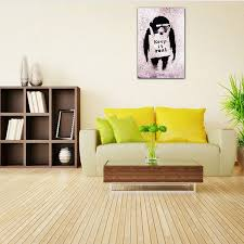 wohnzimmer leinwand gerahmte leinwanddrucke slogan affen malerei wohnzimmer wand kunst