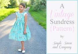the vintage sundress pattern simple simon and company