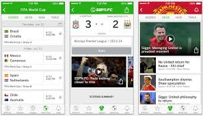 espn app android espn fc soccer world cup app updated for android ios devices