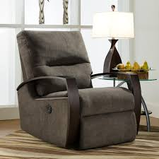 Oversized Swivel Rocker Recliner Rocker Recliner With Wooden Arms By Southern Motion Available At
