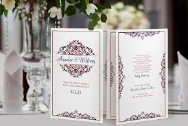 Vintage Wedding Programs Wedding Program Booklet Foldover Template Natalia Burgundy U0026 Navy