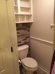 bathroom is almost finished waynescoat chair rail cabinet rock