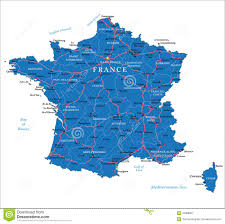 France Map With Cities by France Map Royalty Free Stock Photography Image 31388097