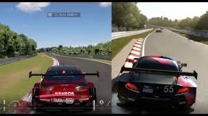 comparaison siege auto gran turismo sport beta vs forza motorsport 6 comparison gt sport