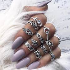 knuckle rings images 11 piece silver stack bohemian above knuckle rings sugar cotton jpg