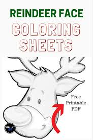 free pdf 13 christmas reindeer coloring pages face antlers