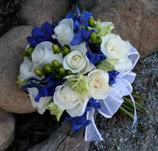 blue wedding bouquets flowers bouquet blue