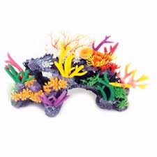 aqua one coral reef mixed bright corals aquarium ornaments pets