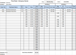 Construction Timesheet Template Excel Timesheet Template For Excel