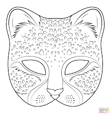 coloring mask carnival in cat mask coloring page eson me