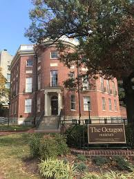 more than one side to the story in the octagon house museum old this home that played the role of the white house for six months in the early 19th century is the known as the octagon house and it also happens to be one