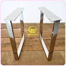 U Shaped Table Legs U Shaped Mirror Stainless Steel Legs Base Furniture Foshan