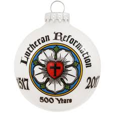 anniversary christmas ornament lutheran reformation anniversary glass ornament bronner s