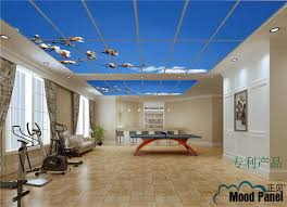 decorative ceiling light panels 2018 fitness center billiards city shadowless lighting new blue and