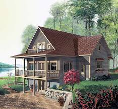 Lake Home Plans Narrow Lot 87 Best Vacation Home Plans Images On Pinterest Country House