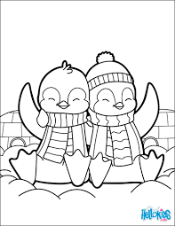 valentine u0027s day penguins coloring pages hellokids com