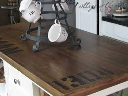 Distressed Kitchen Island Distressing Antiquing A Kitchen Island Cottage In The Oaks