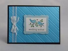 Newlywed Cards Stampin Up Handmade Greeting Card Embossed Wedding Card Love