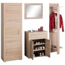 porte manteau armoire ensemble vestiaire 4 pièces porte manteau miroir meuble range