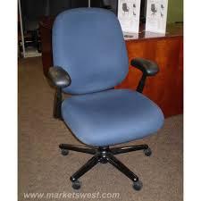 Herman Miller Armchair Miller Ergon Blue Fabric Mid Back Task Chair Used