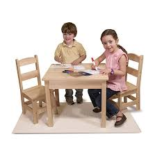 melissa and doug train table and set wooden table chairs 3 piece set