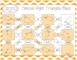 special right triangles maze maze triangles and students