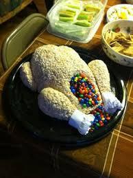 rice krispie treat turkey a thanksgiving
