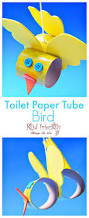 make a cute toilet paper tube bird craft with kids easy to make
