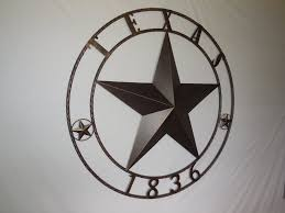 western star home decor texas 1836 barn star metal art western home decor new rusty brown