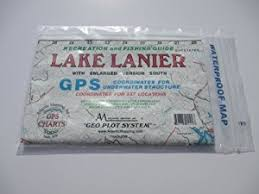 lake lanier map amazon com lake lanier south recreation and fishing gps