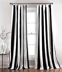 Black White Stripe Curtain Black And White Striped Curtains Whites My Favorite