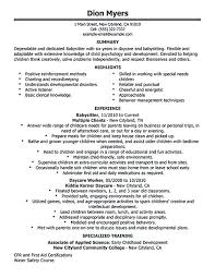 babysitting resume templates resume for babysitting image titled write a resume for babysitting