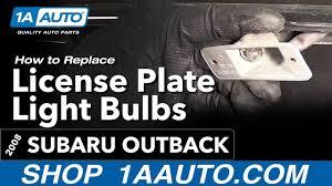 2008 subaru outback brake light bulb how to replace install license plate light bulbs 2008 subaru outback