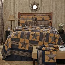 Country Quilts And Bedspreads Amazon Com Vhc Brands Teton Star Primitive Country Patchwork