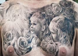 children portrait on chest by carlos torres design of