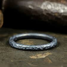 stackable personalized rings 2mm stackable ring 925 sterling silver oxidized blackened