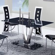 Dining Room Furniture Usa Global Furniture Usa 551dt Black Glass Dining Table W Stainless