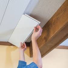 Popcorn Ceilings Asbestos by Lowes Creative Ideas Tutorial On Using Planks A Track To Cover A