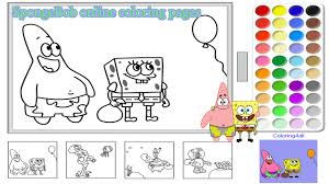 spongebob online coloring pages for kids spongebob coloring