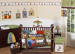 Boy Monkey Crib Bedding Jungle Safari Monkey Giraffe Animal Theme