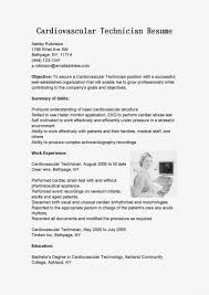 Lab Resume Cardiac Technician Cover Letter Medical Lab Resume