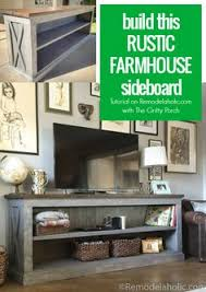 Rustic Tv Console Table Build A Farmhouse Style Planked X Tv Console Or Sideboard