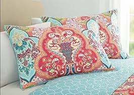 amazon com turquoise u0026 coral tropical beach damask full queen