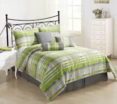 Green And Yellow Comforter Retro 7pc Comforter Set Green Grey Coffee Cream Yarn Dyed