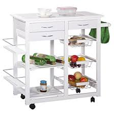 kitchen cart island amazon com merax tile top mobile kitchen cart island with